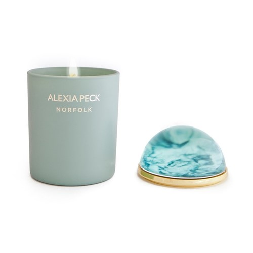 Norfolk - Samphire & Seaweed Candle and paperweight, L11 x W11 x H16.5cm, sage