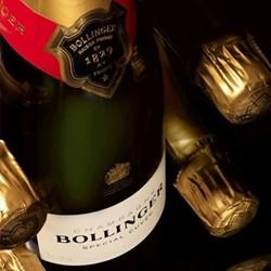 Case of non-vintage Bollinger Champagne, 6 bottles
