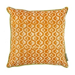 Small Medallion Cushion, 50 x 50cm, tangerine