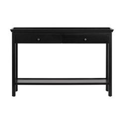 Aldwych Console table, W122 x D38 x H80cm, warm black