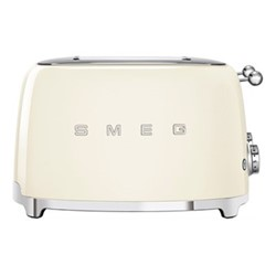50's Retro 4 slice toaster - 4 slot, cream