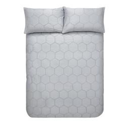 Honeycomb Kingsize duvet set, grey