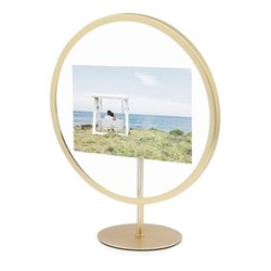 "Infinity Photo display, 4 x 6"", matte brass"