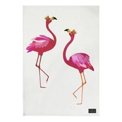 Flamingo - Placement Tea towel, 44 x 65cm, pink