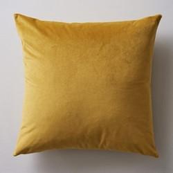 Albion Velvet cushion, 45 x 45cm, mustard