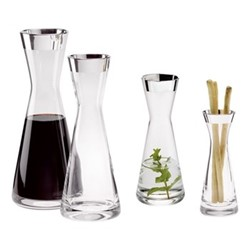 Tavola Decanter, H25cm - 0.5 litre, crystal and sterling silver