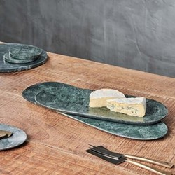 Ovah Marble Platter (Small), H1.5 x W36 x D15cm