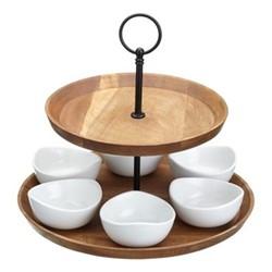 2 tier serving set, 25 x 24cm