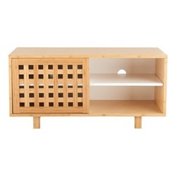 Kitt Single drawer unit, H45 x W93.7 x D40cm, Beige/ Natural