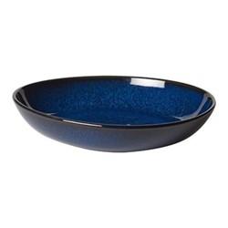 Lave Bleu Bowl flat small, 22 x 21 x 4.2cm, blue