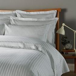 300 Thread Count Sateen Stripe Pair of oxford pillowcases, L50 x W75cm, platinum
