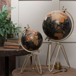 Ebu Small decorative globe, D45 x 21cm, antique brass