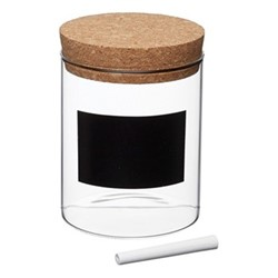 Natural Elements Storage canister, 10 x 14cm, glass