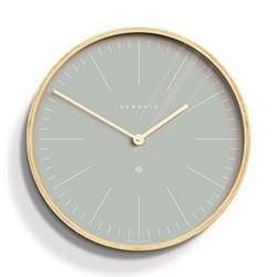 Mr Clarke Wall clock, Dia40cm, pill blue/pale wood