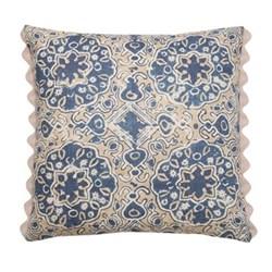 Ashcombe Cushion, 50 x 50cm, beige blue