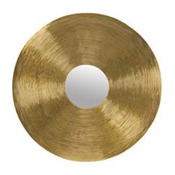Round mirror, 76cm, gold wire framed
