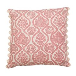 Oakleaves Cushion, 50 x 50cm, pink