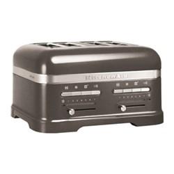 Artisan 4 slot toaster, medallion silver