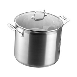 Impact Stock pot with lid, 7.2 litre - D24cm, stainless steel and glass