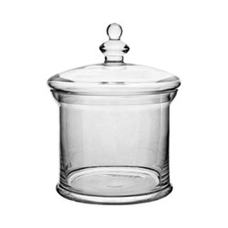 Belmont Medium jar, H30 x D22cm, clear