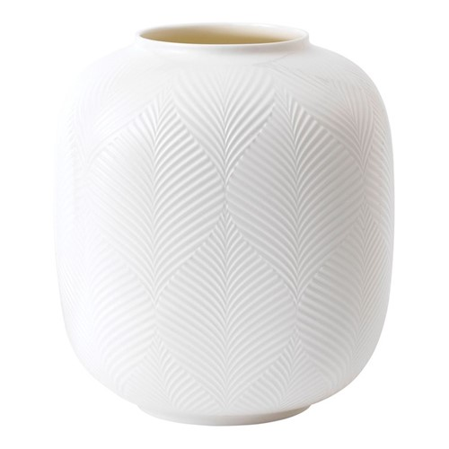 White Folia Rounded vase, 21cm
