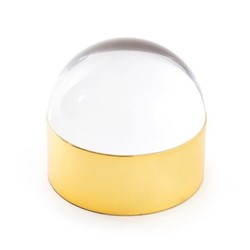 Globo Medium box, L22.86 x D12.7 x H14.05cm, clear/polished brass
