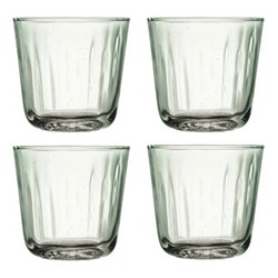 Mia Set of 4 tumblers, 250ml, recycled glass