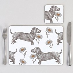 Dog & Daisy Set of 4 placemats, 29 x 21cm