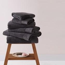 Barnes Set of 6 towels, charcoal