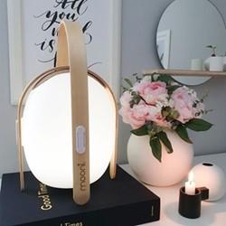 Ovo Mini Speaker lantern, L23.8 x W23.8 x H39.2cm, white