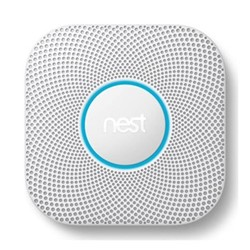 2nd Generation Smoke and carbon monoxide alarm, H15.9 x W15.8 x D7cm, white/hard wired