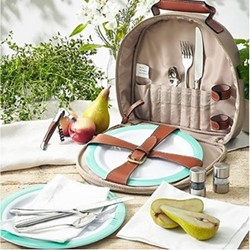 Canvas 2 person picnic carry all, 30cm