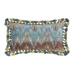 Amsterdam - Lisette Cushion, 30 x 50cm, blue
