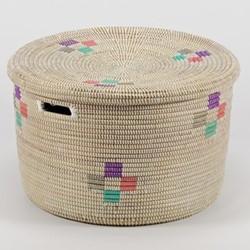 La Brise Large round storage basket, 32 x 50cm, evening