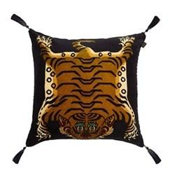 Saber Large velvet cushion, 60 x 60cm, navy