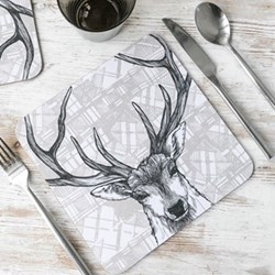 Stag Pair of tablemats, 23 x 23cm