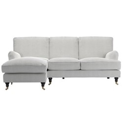 Bluebell Left hand facing chaise sofa, H91 x W227 x D106cm, pumice
