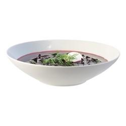 Dine Set of 4 pasta bowls, 24cm, white