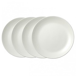 Vera Wang Perfect White Set of 4 dinner plates, 27cm, white