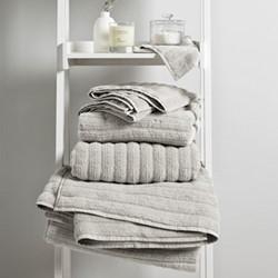 Rib Hydro Cotton Bath sheet, 100 x 150cm, platinum