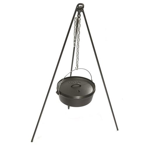 Camp dutch oven tripod, black