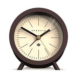 The Fred Alarm clock, 12 x 11 x 7, Chocolate Black