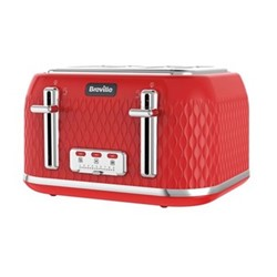 Curve - VTT914 Toaster, 4 Slice, red