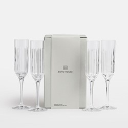 Roebling Set of four flutes, clear