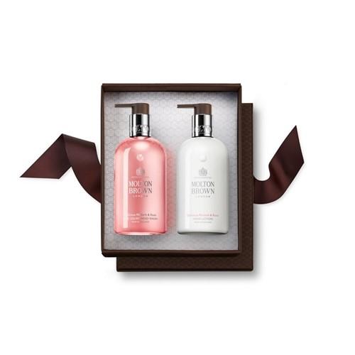 Rhubarb & Rose Hand wash and hand lotion set, 300ml