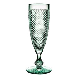 Bicos Set of 4 flutes, H19cm - 11cl, mint green