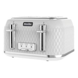 Curve - VTT911 Toaster, 4 Slice, white & chrome