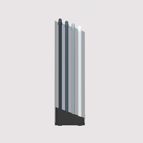 Editions 4 piece folio large chopping board set, H24 x W34cm, Sky blue