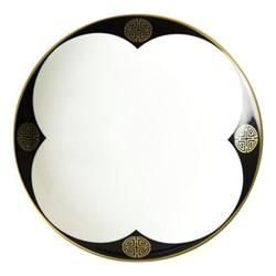 Satori Black Coupe bowl, D22.5 x H4cm, black/white/gold