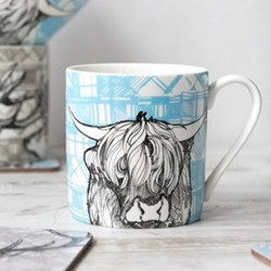 Highland Cow Mug, 8.5 x 9cm